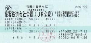 青春18切符金券ショップ